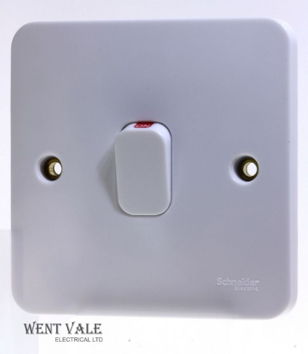 Schneider Lisse Moulded Range - GGBL2011 - 20a Double Pole Switch With Neon